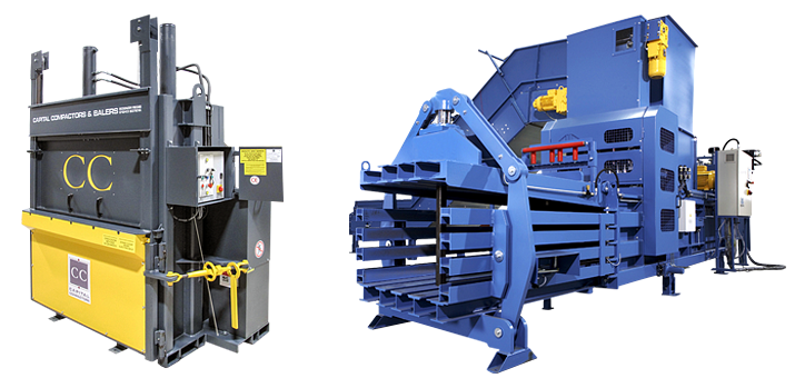 Capital Compactors waste and recycling balers
